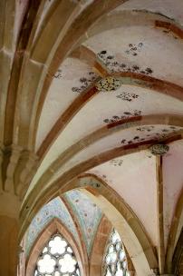 Spätgotische Deckenkonstruktion des Parlatoriums