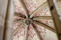 Die Deckenkonstruktion der Brunnenkapelle aus dem 14. Jahrhundert.