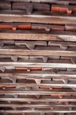 Holzschindeln von Innen
