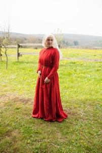 Kleid aus mit Krapp gefärbter Wolle.