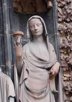 Weise Jungfrau, Straßburger Dom, ca 1290, Frankreich
