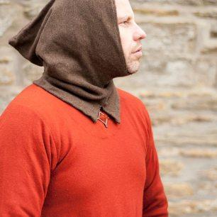 Rekonstruktion einer Gugel aus Wolle nach dem Schnittmuster der London Hood