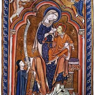 Amsbury Psalter, ca 1240, England